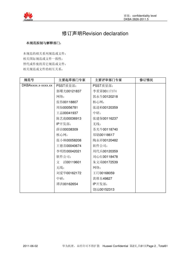 华为-C语言编程规范